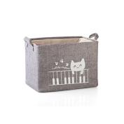 Fieans Fabric Storage Bin Organiser Basket with Handles for Clothes Storage,Toy Organiser-Grey