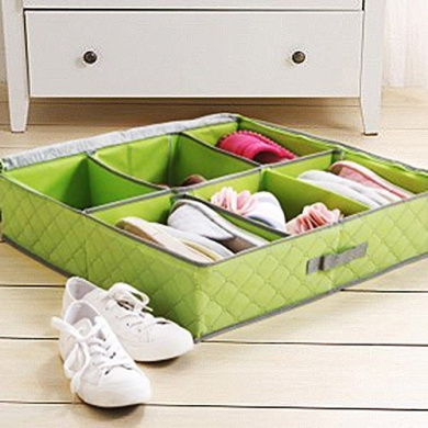 Foldable Underbed Shoe Organisers Storage Boxes for 3-6 pairs Shoes or Boots