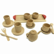 Texay(TM) Baby Toys Nature Beech Wood Tea Set Wooden Toys Cup Set Pretend Play Kitchen Toys Educational Infant Birthday Gift