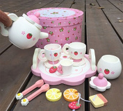 Texay(TM) Baby Toys Strawberry Simulation Tea Set Wooden Toys Cup Set Pretend Play Kitchen Toys Educational Infant Birthday Gift