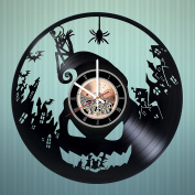 Dark Fantasy Musical Movie Vinyl Record Wall Clock -Nursery wall decor - Gift ideas for teens, siblings - Cartoon Unique Art Design