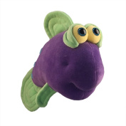 "Funny Friends Soft Purple and Green Plush Fish ""Google Trout"" Small - 36cm"