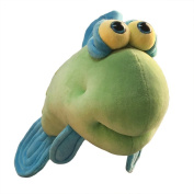 """Funny Friends Soft Green and Blue Plush Fish """"Google Trout"""" Small - 36cm"""