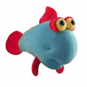 "Funny Friends Soft Blue and Red Plush Fish ""Google Trout"" Small - 36cm"
