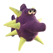 "Funny Friends Handsculpted Purple and Lime Plush Fish ""Spike"" Large - 41cm"