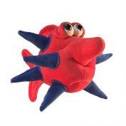 "Funny Friends Handsculpted Red and Blue Plush Fish ""Spike"" Small - 25cm"