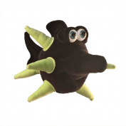 "Funny Friends Handsculpted Black and Lime Plush Fish ""Spike"" Small - 25cm"