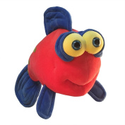 "Funny Friends Plush Fish Red, Yellow and Blue ""Lippe Momba"" Large - 41cm"