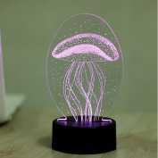 TYFANG 7 Colour Jellyfish 3D Visual Led Night Light for Kids Baby Touch Control USB Table Lamp, Best Gift