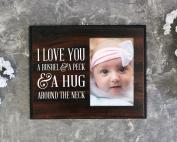 Nursery picture frame I love you a bushel and a peck