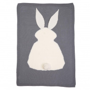 Coerni Baby Photography Wrap Kids Rabbit Knitting Blanket Bedding Blanket Crib Wrap