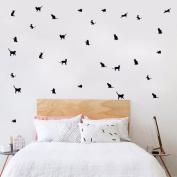 Wall Sticker ZTY66, 11Pcs Cute Pets Mural Stickers Decor Decals Art for Living Room Nursery Bedroom