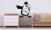 Wall Vinyl Sticker Decals Mural Room Design Decor Art Parrot Time Clock Watch Bird Nursery mi225