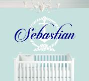 Custom Name Anchor - Nautical Theme - Baby Boy - Wall Decal Nursery For Home Bedroom Children (742)