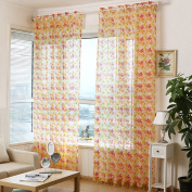 """LADEY One Piece Five Leaf Flowers Style Sheer Window Voile Curtain """"100cm ×""""200cm"""
