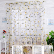 """LADEY One Piece Pink Beige Sheer Window Voile Curtain """"100cm ×""""200cm"""