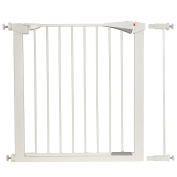 Ivation safety gate With Door, Easy-Close, Walk Through, Double Locking Swing Door, Fits Spaces between 80cm and 100cm Wide, - Extention Gates Available