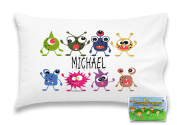 """Customizable, """"Monster"""" Pillowcase. Personalised With Your Child's Name - Perfect Gift For Boys Or Girls Of All Ages!"""