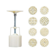 8 Stamps Moon Cake Mould Small Cake Mould Plastic Baking Mould 25G
