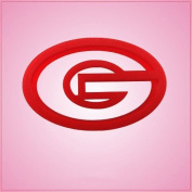 Oval Letter G Cookie Cutter 5.1cm - 1.3cm tall, 10cm wide Red