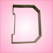 Varsity Letter D Cookie Cutter 11cm (metal) aluminium