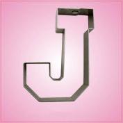 Varsity Letter J Cookie Cutter 11cm (metal) aluminium