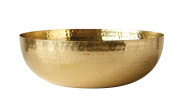 Creative Co-Op Metal Bowl with Brass Finish, , Gold