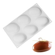 New Arrival White Silicone Super Vivid Elliptical Pebble Stone Baking Pan for Cakes Mousse Dessert Non-Stick Mould Tools Bakeware Cake Pans