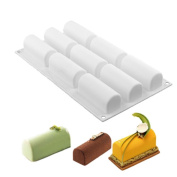 New Arrival White Silicone Roll Non-Stick Mould Log Delicate Chocolate Desserts Twinkie Tea-time Cake Polvoron Filipino Candy Pastries Moulds