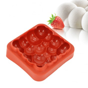 New Arrival Wine Red 3D Silicone Irregular Cloud Shape Mould for Mousse Cake Ice Cream Brownie Bakeware Tools