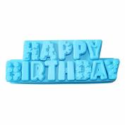 X-Haibei Happy Birthday Alphabet Letter Pan Silicone Cake Jello Bread Chocolate Mould