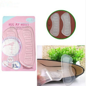Yinew A Pair of Invisible Clear Gel Silicone Heel Grips Liners Shoe Insole Grip
