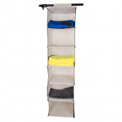 6 Shelves Hanging Wardrobe Organiser Storage Unit Bra Sweater Clothes
