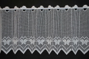 Curtain half-curtain Crochet 25 cm high | Width freely selectable in 20 cm steps via quantity purchased | Colour