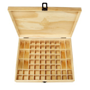 Essential Oil Wooden Box Organiser Protects 68 Bottles, Oenbopo large Essential oil Aroma Fragrance Oragnizer storage Box/Case Display Holds 68 Roller Bottles for Travel and Presentations