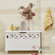 Vivo © Wooden Chest Jersey White Trunk Sideboard Large Laundry Wood Chest Cabinet Bed