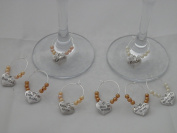 Set of 8 Wedding Top Table Wine Glass Charms by Libby's Market Place