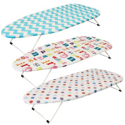 Funky Foldable Portable Compact Table Top Mini Ironing Laundry Board With Cover Travel Camping Space Saver