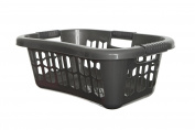 Whitefurze Easy Grip Hip Laundry Basket, Silver