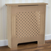 Home Discount Oxford Radiator Cover Traditional Unfinished Unpainted MDF Cabinet Grill, Small