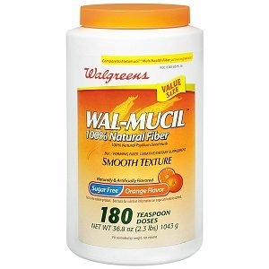 Walgreens Wal-Mucil 100% Natural Fibre Laxative/Dietary Supplement Powder,  1090ml