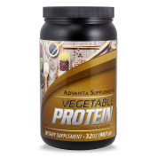 Advanta Vegetable Protein,. Plant-based powder dietary supplement. TASTES GREAT! Contains -0- Saturated Fat & -0- Trans Fat, a wonderful Vegan protein