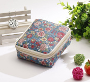 FANTASIEN Multifuction Sanitary Napkins Bag Menstrual Cup Pouch Nursing Pad Holder Flower Printed Washable Earphone Key Charger Jewellery Organiser Storage Bag Pounch