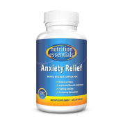 Nutrition Essentials Anxiety Relief | Natural Anxiety Supplement | Best Treatment for Reducing Stress & Improving Mood | Naturally Promote Relaxation | GMP Approved | Made in USA | 60 Capsules