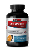 Grey hair remover - ANTI grey HAIR NATURAL FORMULA for Men and Women - PABA - 1 Bottle 60 Capsules