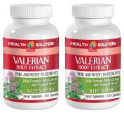 Nerve support vitamins - VALERIAN ROOT EXTRACT - Valerian caps - 2 Bottle 200 Capsules