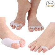 Meta-U Toe Separator Kit (Pack of 6) – Bunion Cushions 1 Pair, Pinky Toe Separators 1 Pair, Five Toes Separators 1 Pair