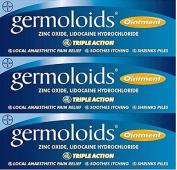Germoloids Triple Action Ointment 25ml x 3 Packs