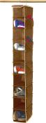 SimpleHouseware 10 Shelves Hanging Shoe Organiser, Brown