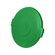 UltraSource Round Trash Can Lid, 121.1l Green